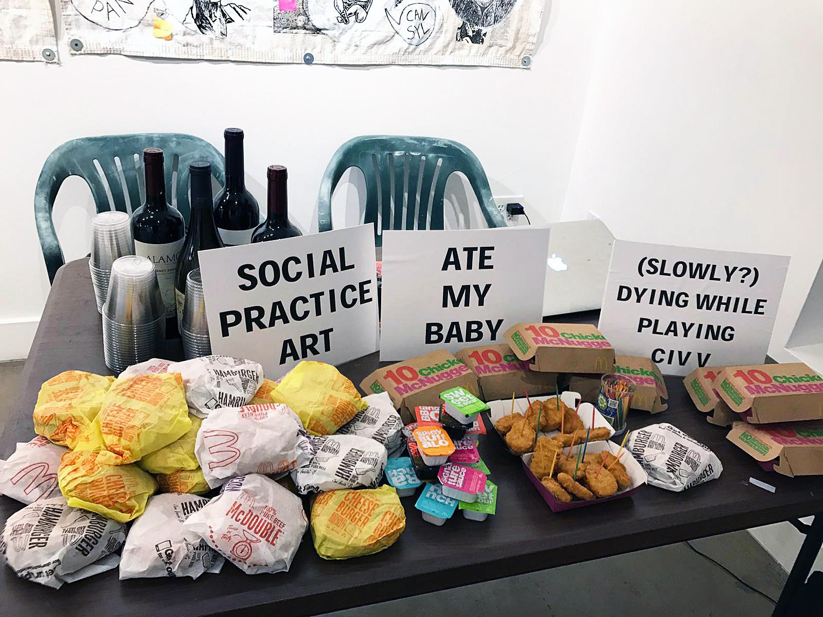 Social Practice Art Ate My Baby  (Cube Gallery) (Las Vegas 2018). (Adam Turl)