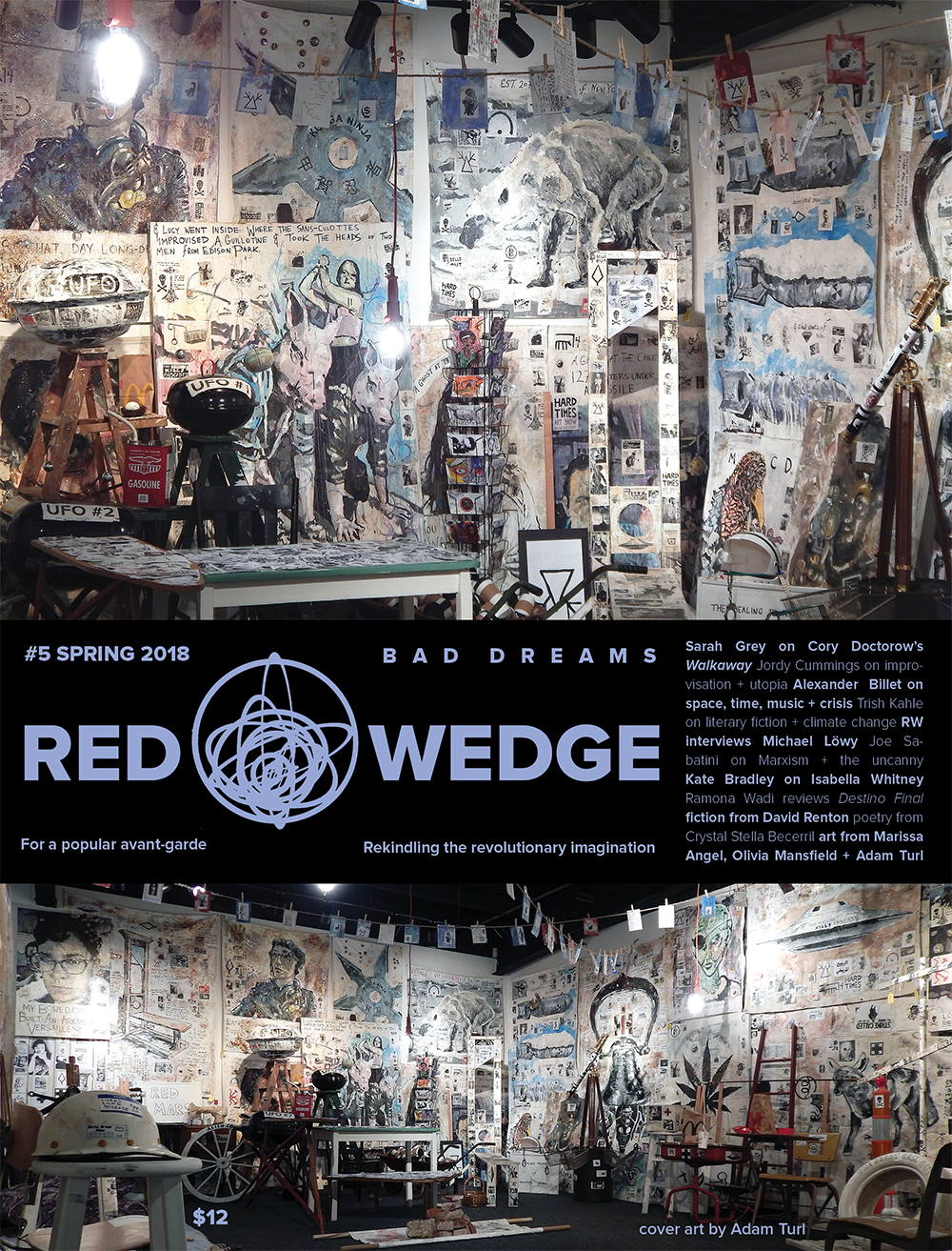 The Barista Who Could See the Future  on the cover of  Red Wedge #5: Bad Dreams.  (Spring 2018). (Adam Turl)