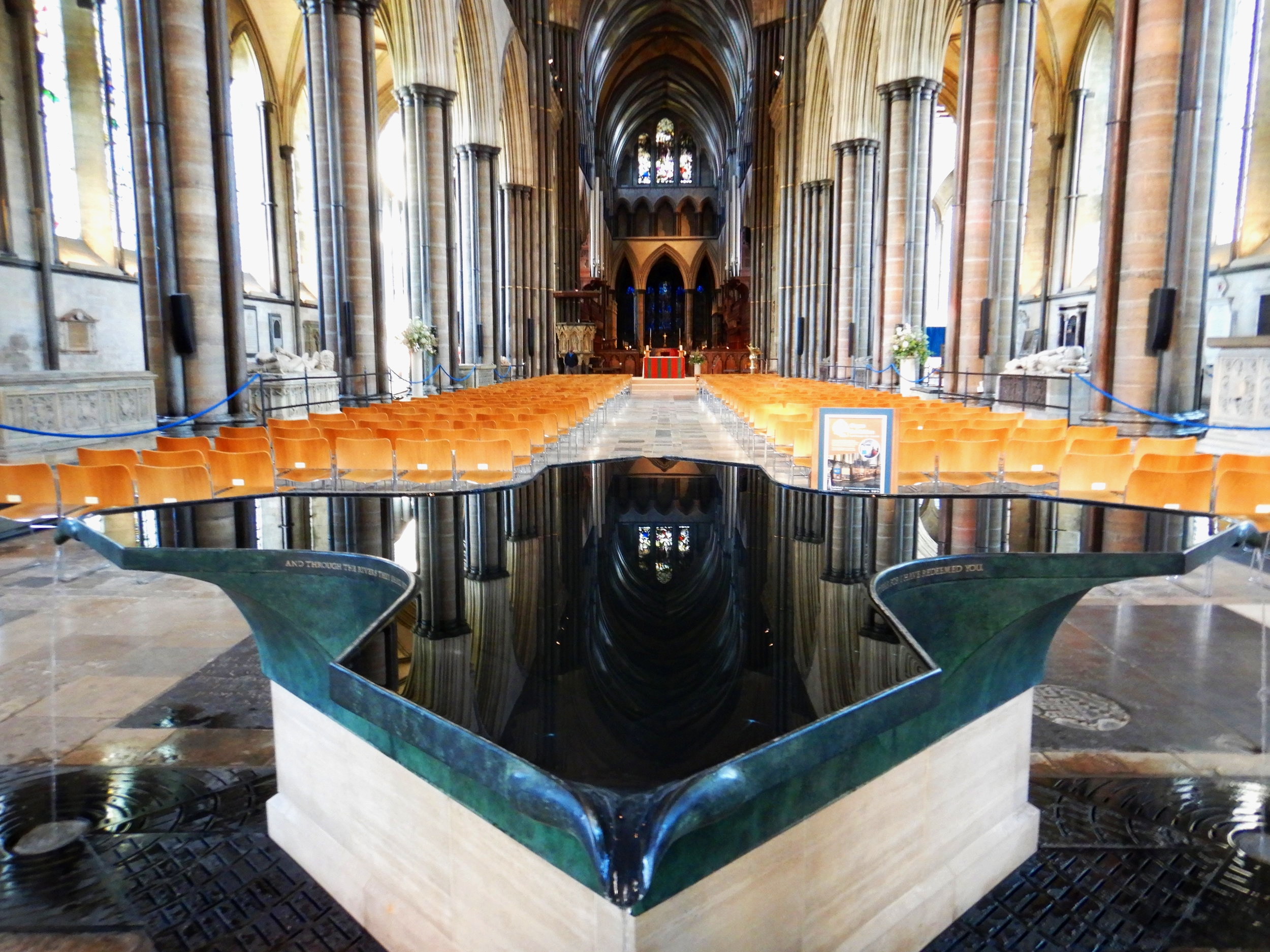 The font at Salisbury Cathedral