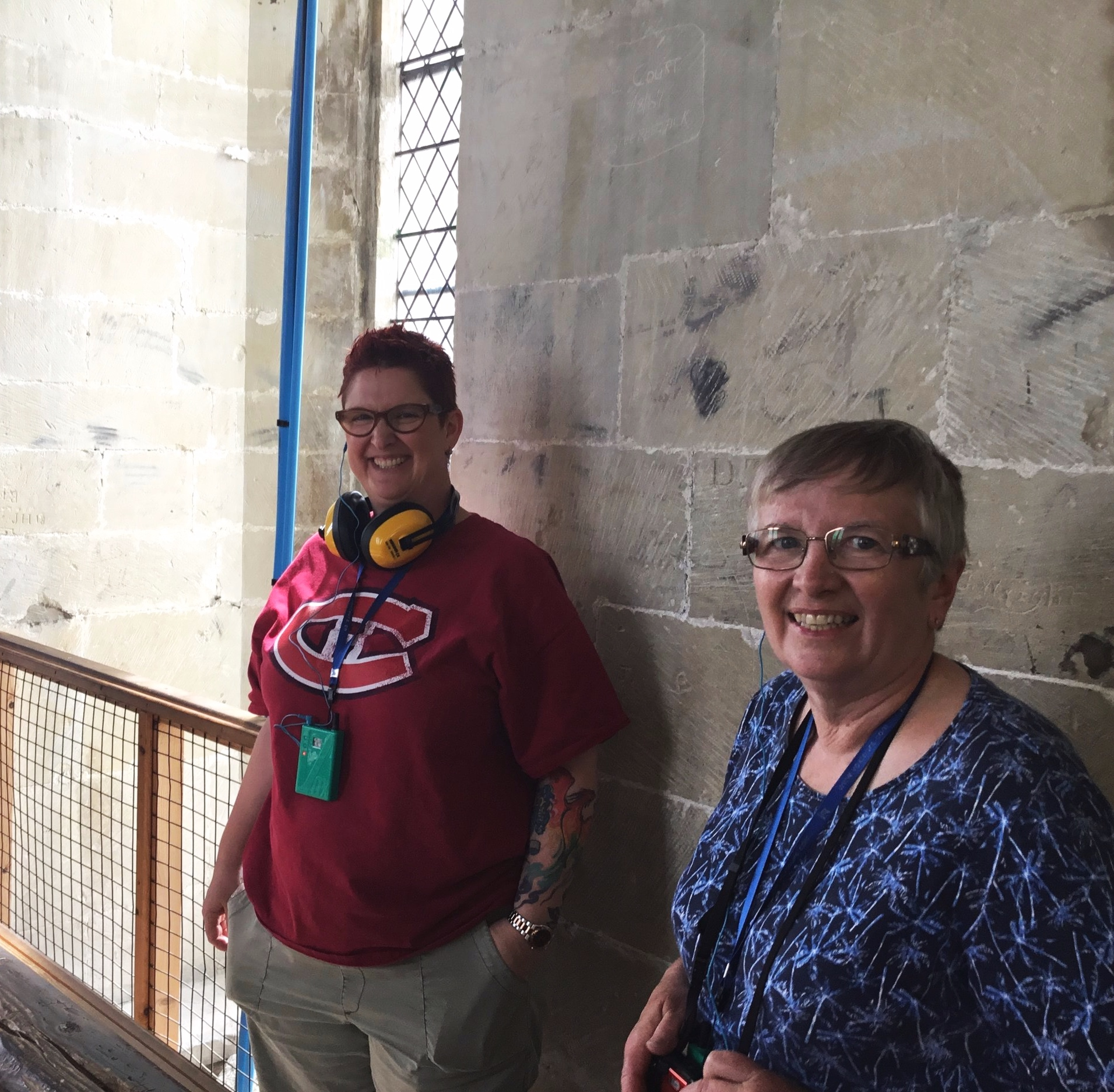 On the tower tour at Salisbury Cathedral