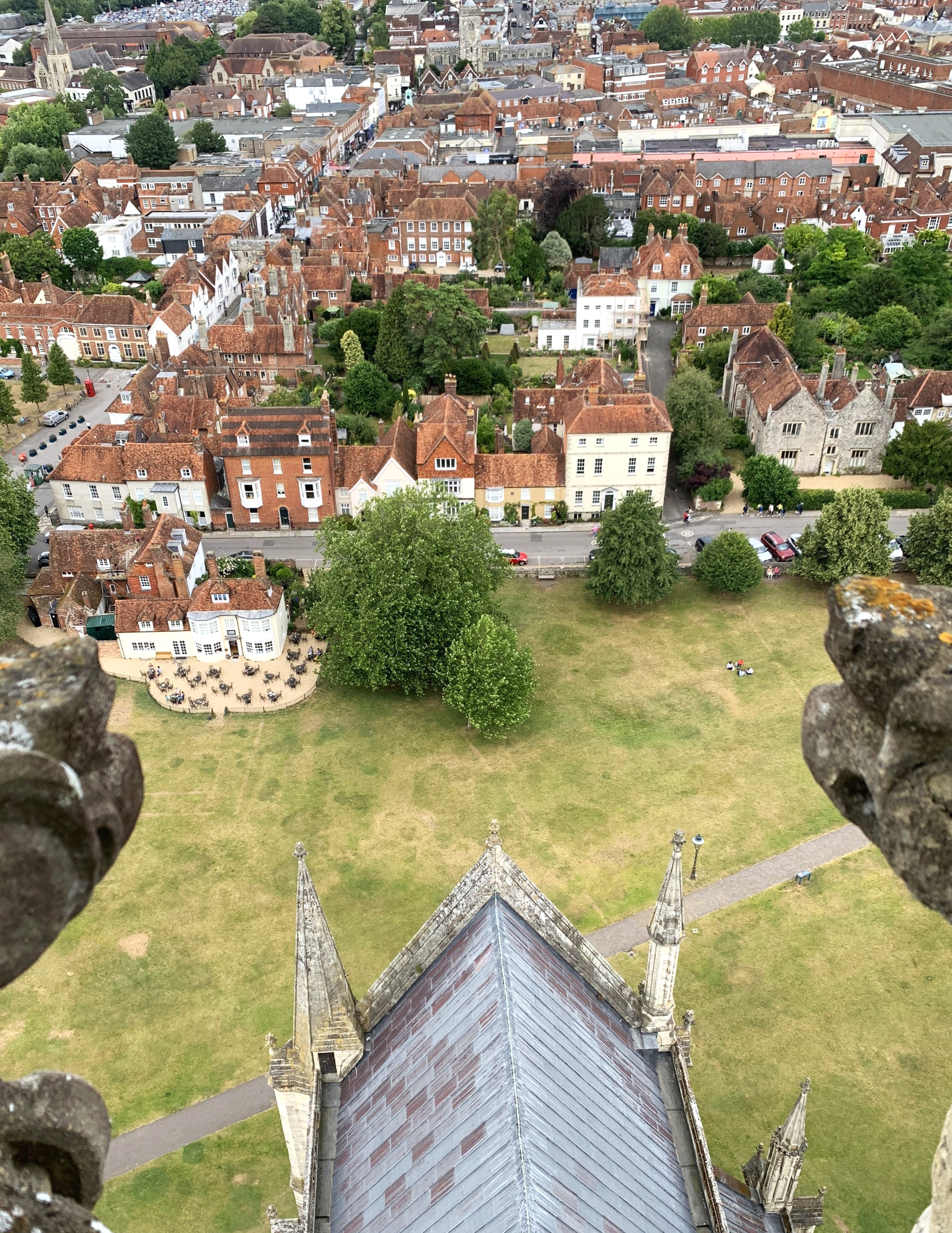 From the Tower at Salisbury Cathedral