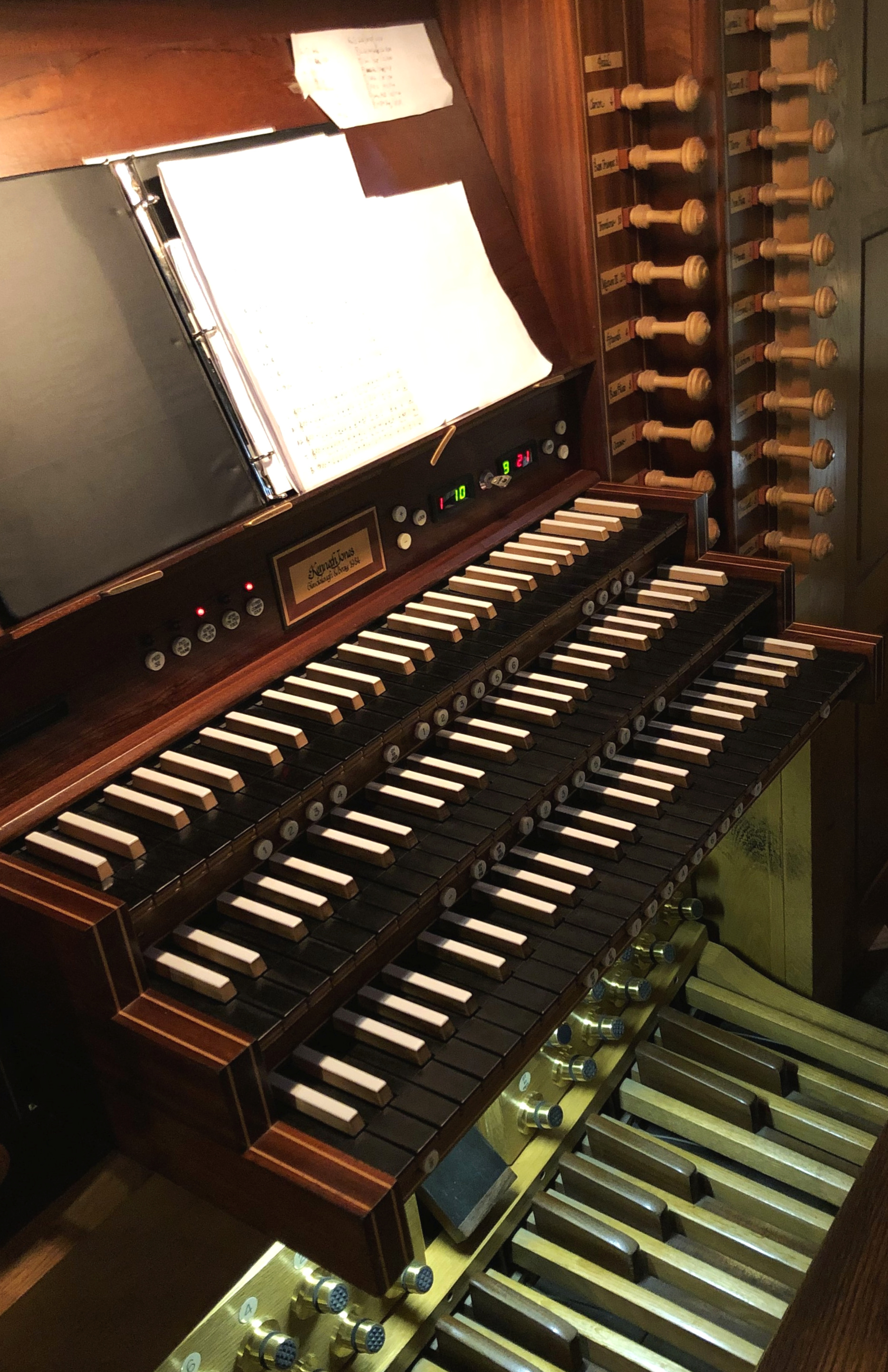 The organ console at Christ Church, Dublin