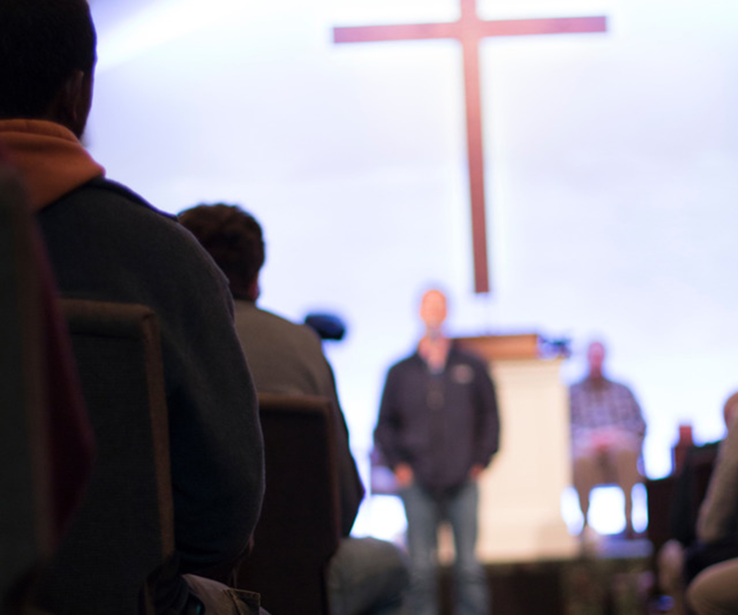 Staff often get up to testify during Chapel services