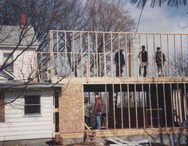 Building an addition on to the Main House dorm