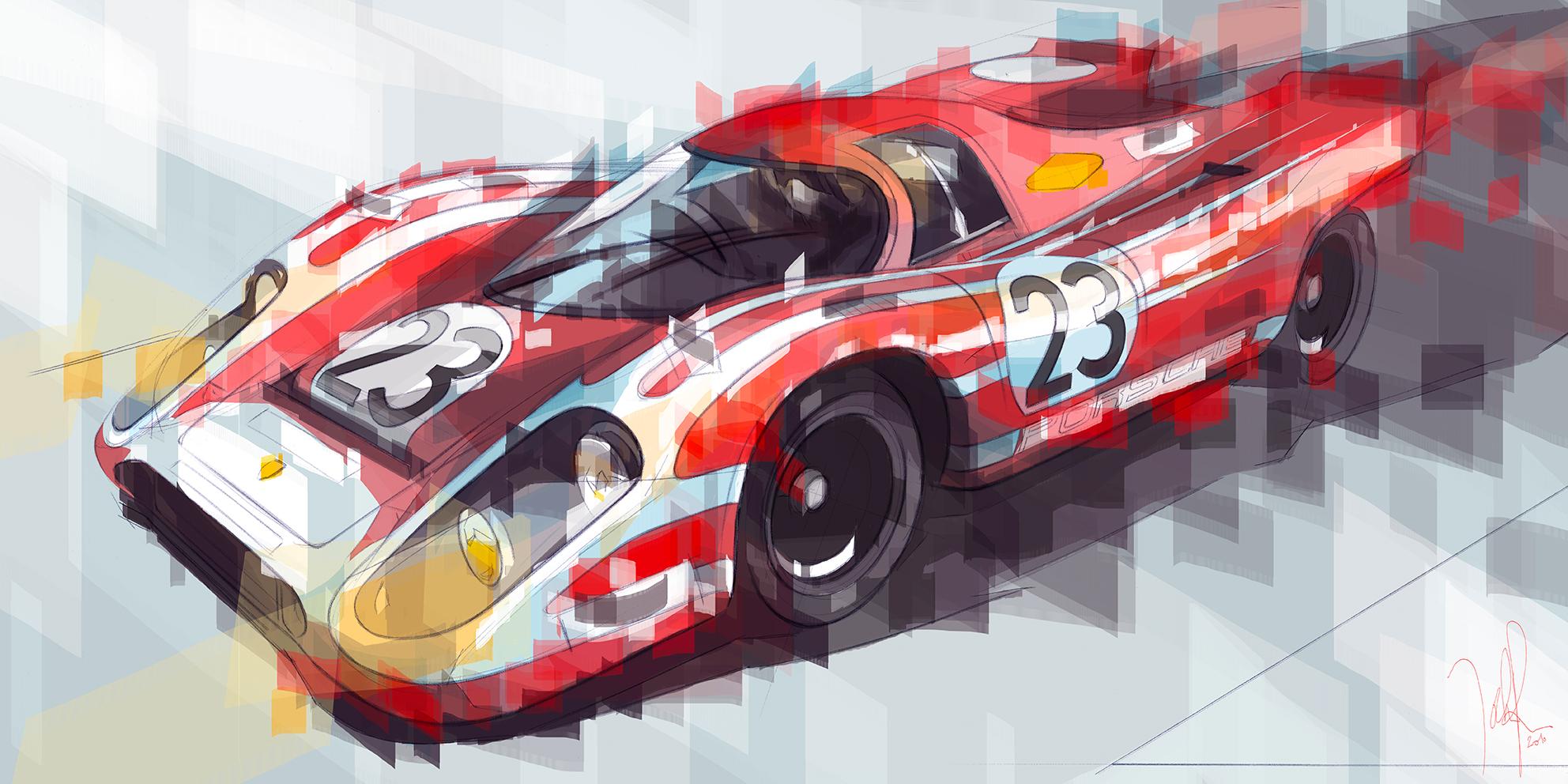 24 Heures du Mans - 1970 Winner Porsche 917k Salzburg Team