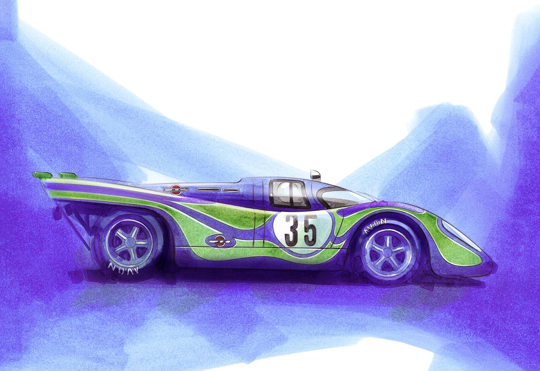 Porsche 917 'Psychedelic' Martini Racing Team