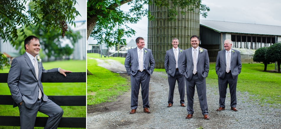Groomsmen portraits at Silos