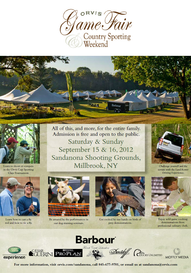Orvis Sandanona Game Fair and Sporting Weekend