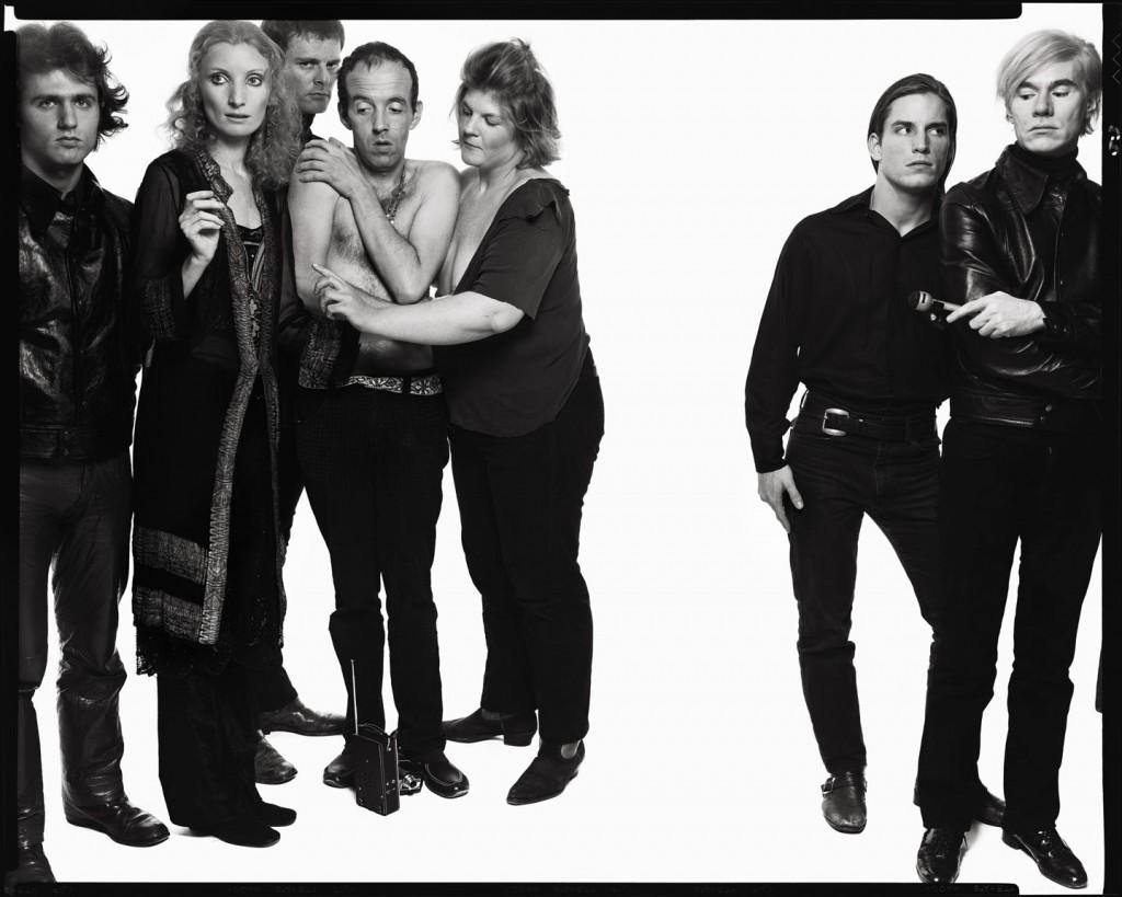 Andy Warhol and members of The Factory: Gerard Malanga, poet; Vi