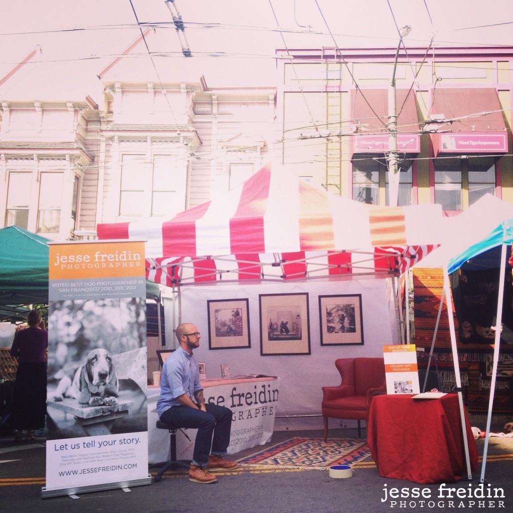 Castro Street Fair dog photographer booth