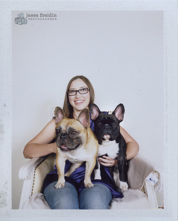 polaroid doggie photo san francisco: frenchies