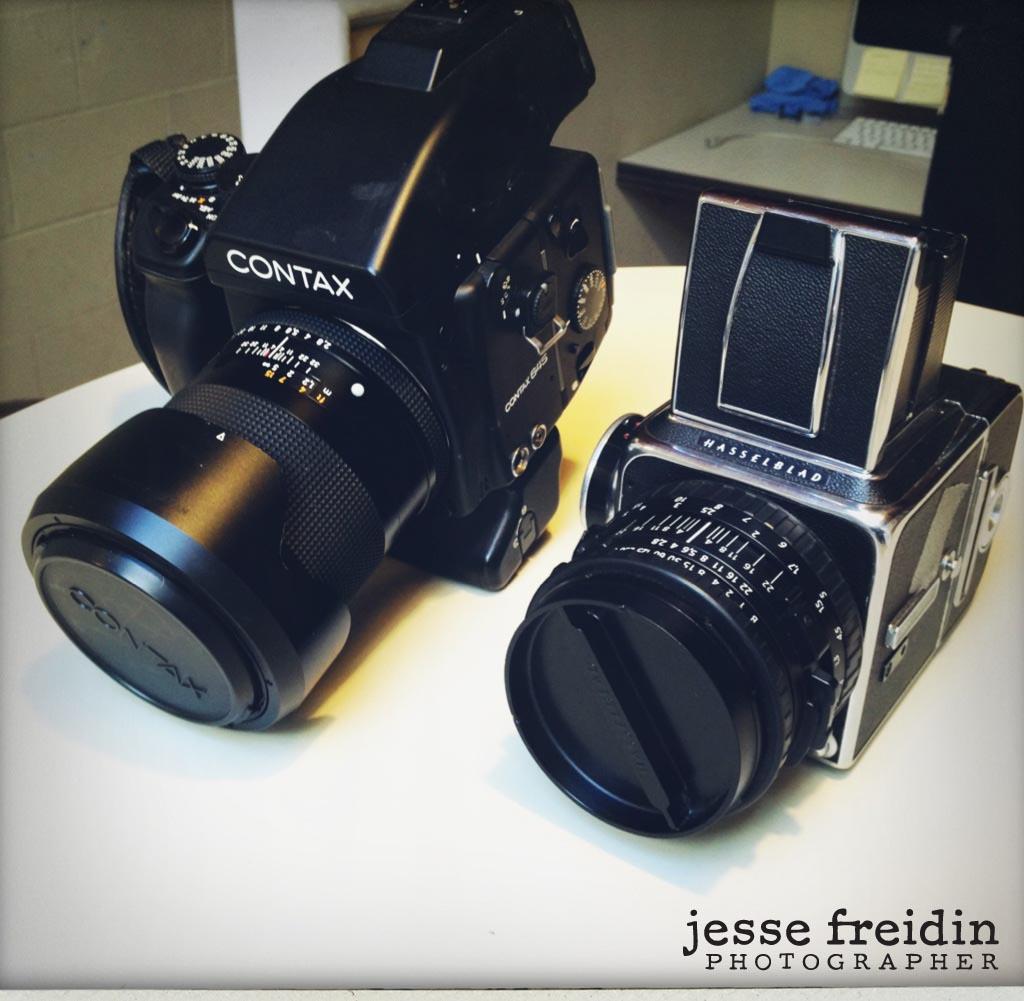 Analog Film Cameras: Contax 645 + Hasselblad 500C