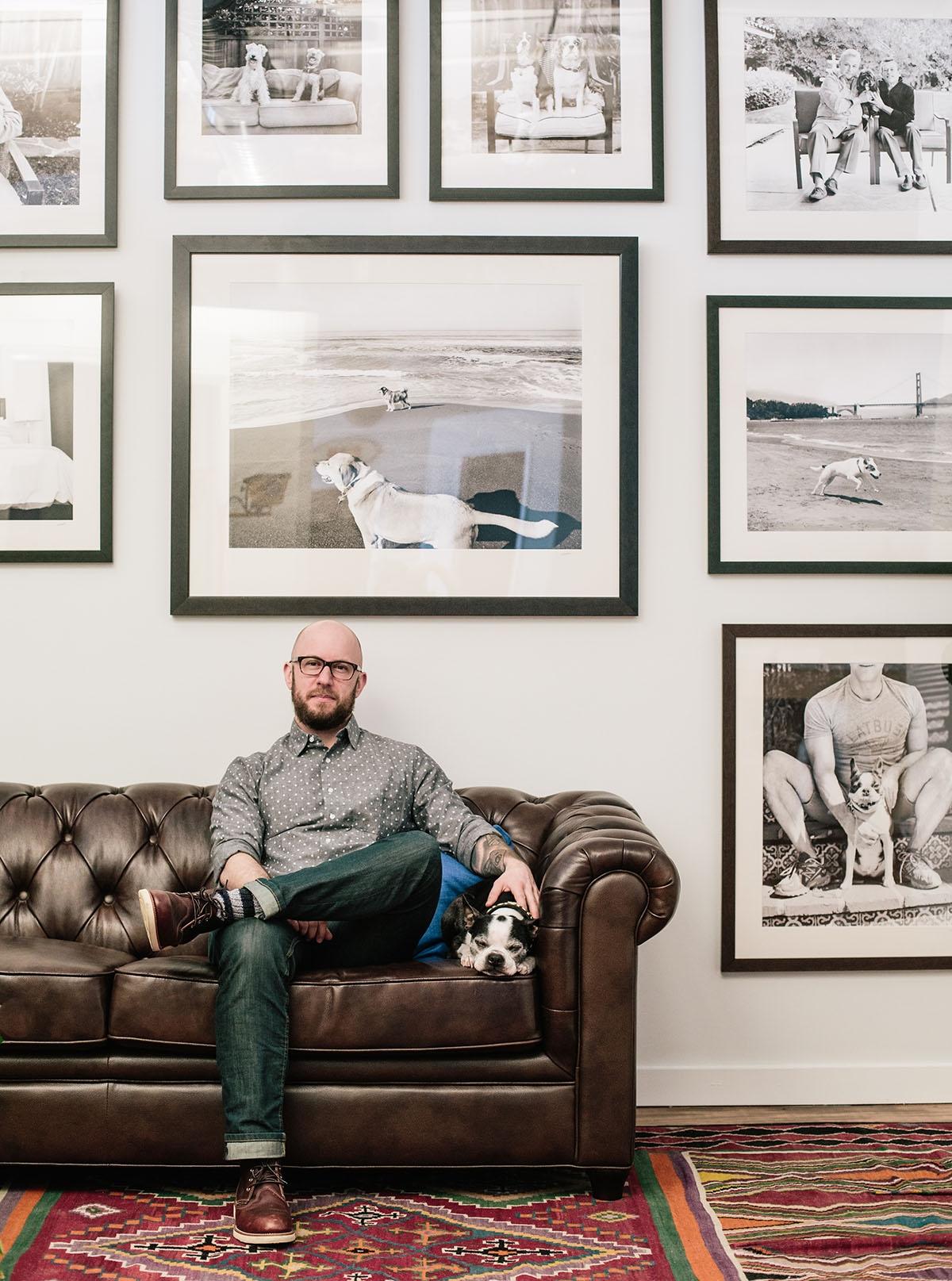 Jesse in his studio. Photo: Valeda Stull