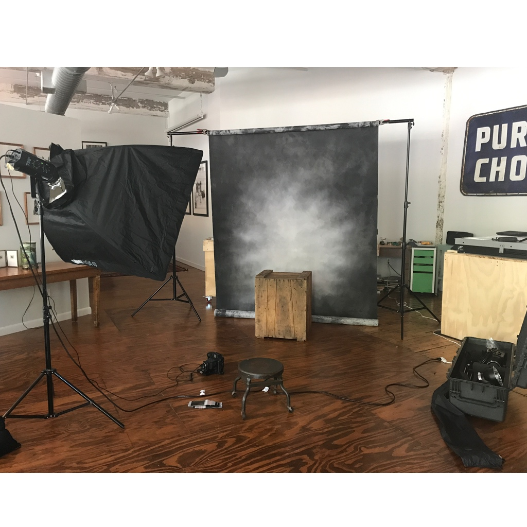setting up for the photo booth