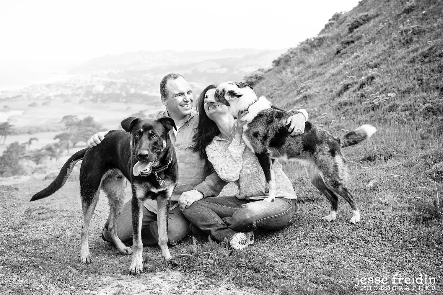 San Francisco Dog Photography Family Portrait