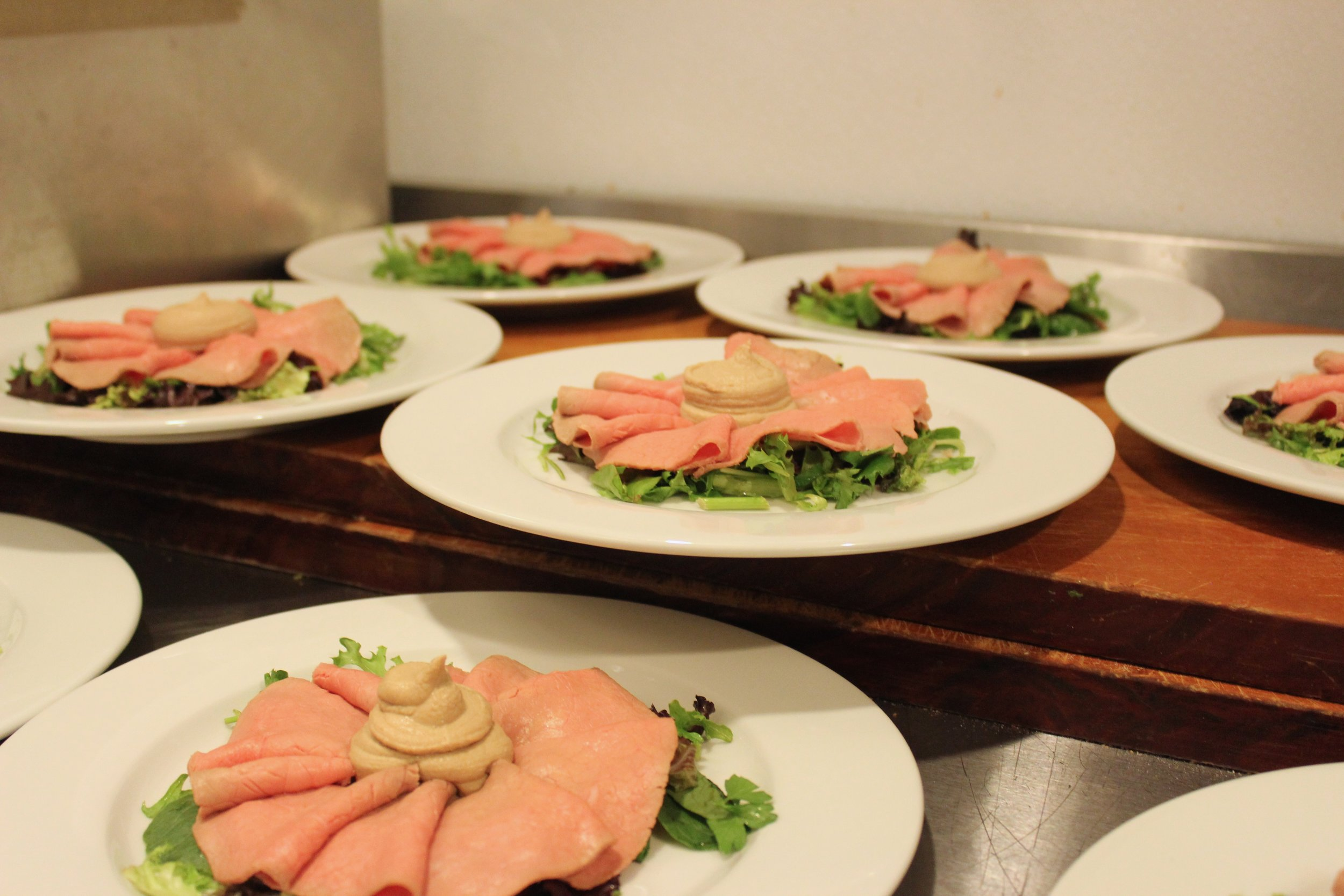prepping of vitello tonnato