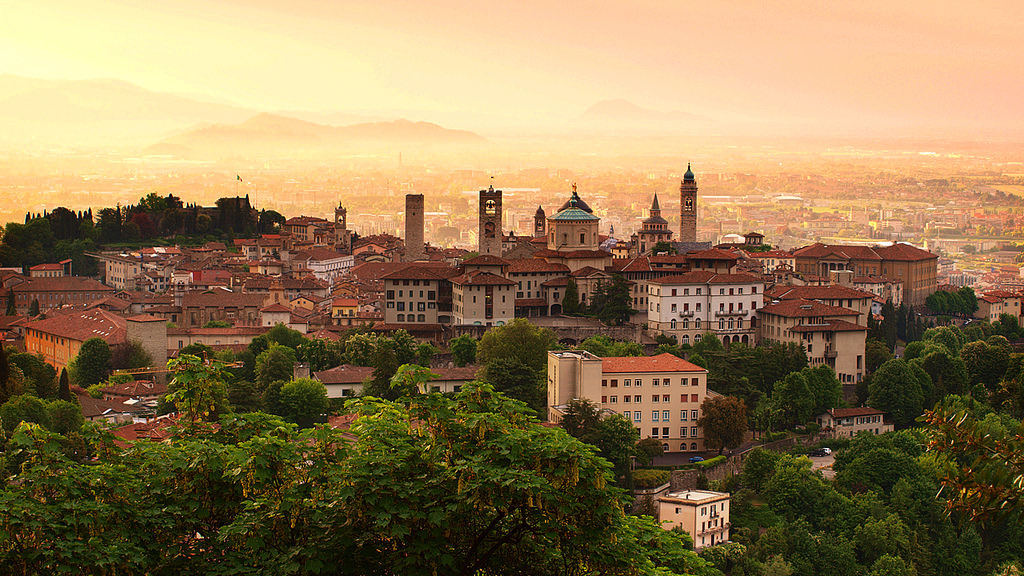 picture of own of Bergamo in Italy
