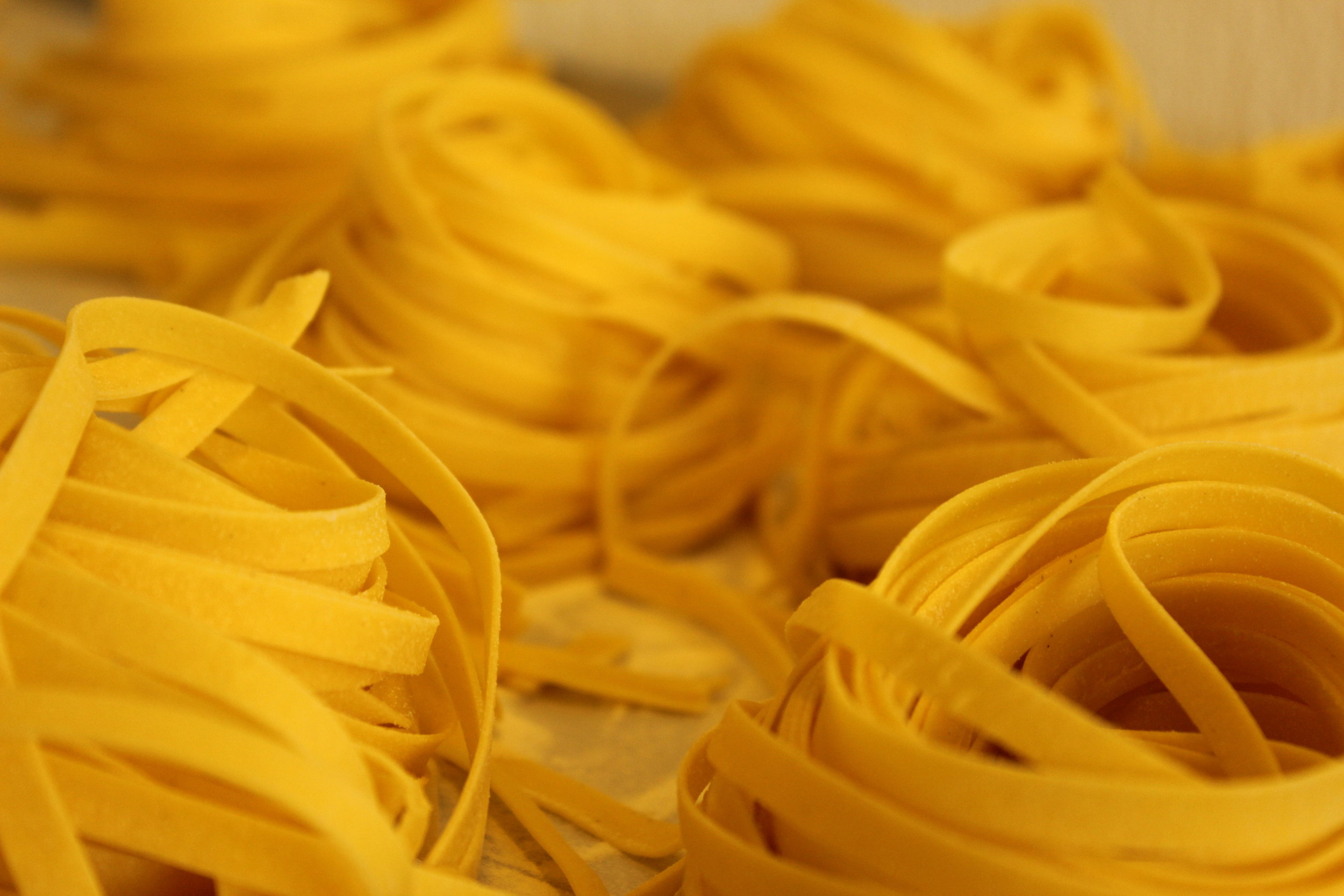Picture of tagliatelle pasta