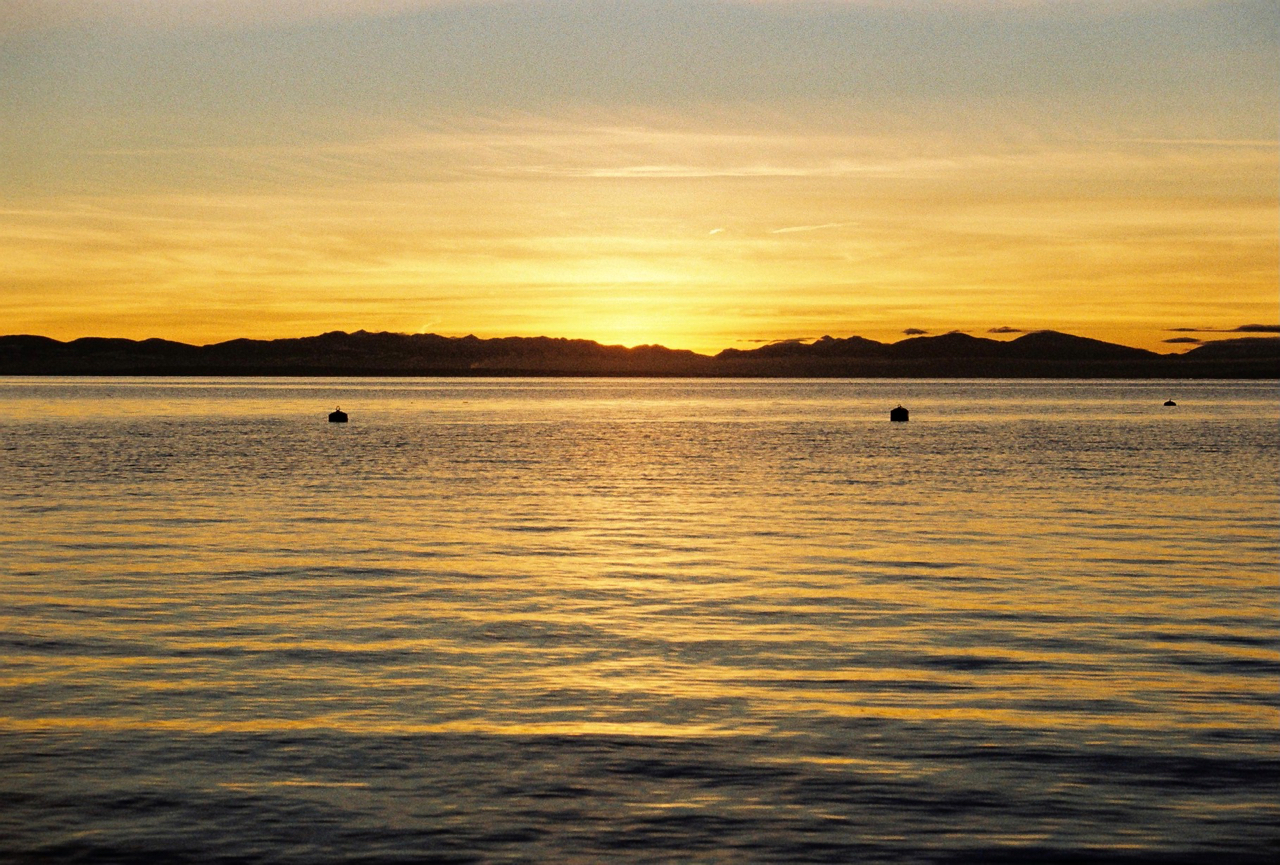 Sunset behing Vancouver Island