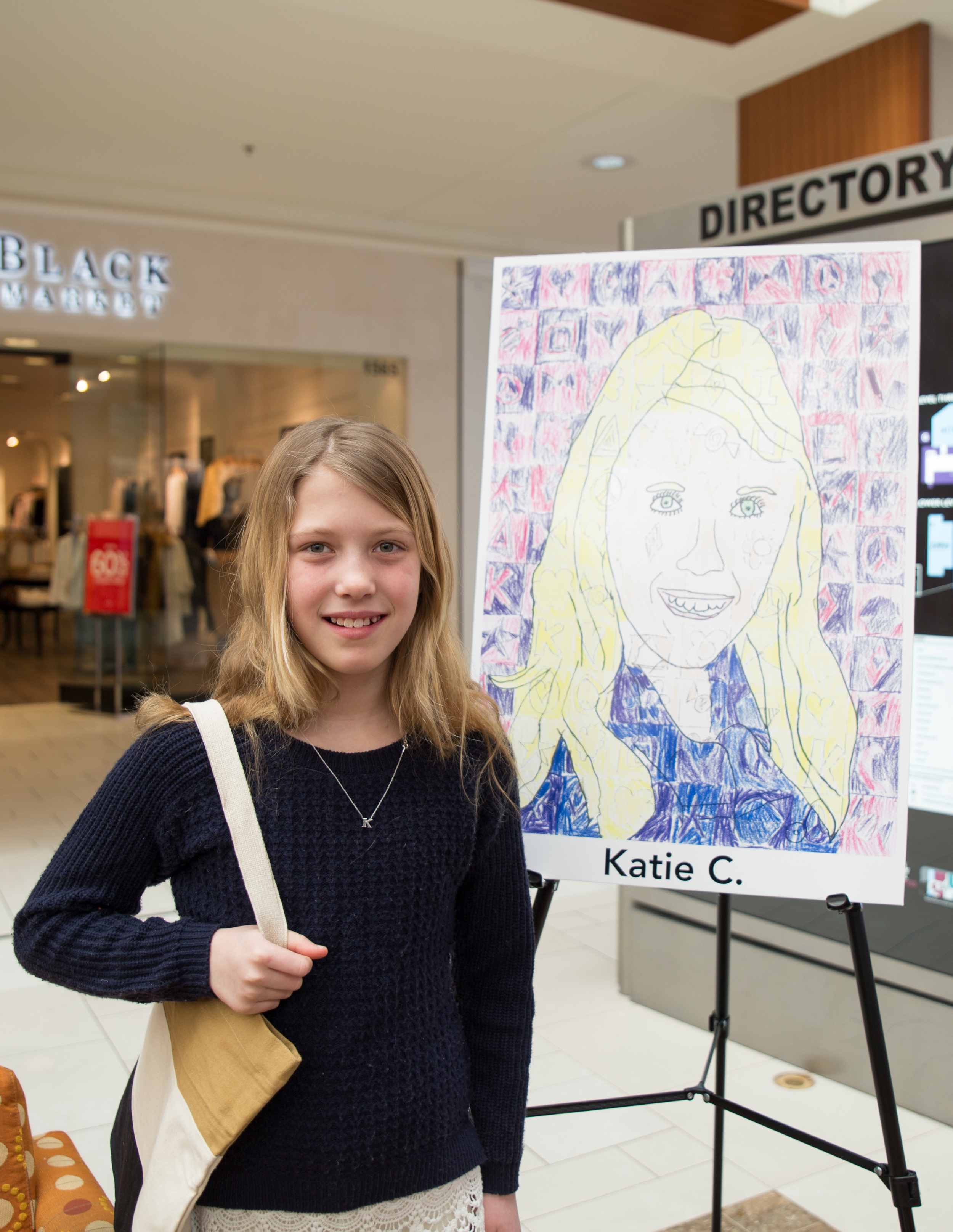Katie C and her self portrait