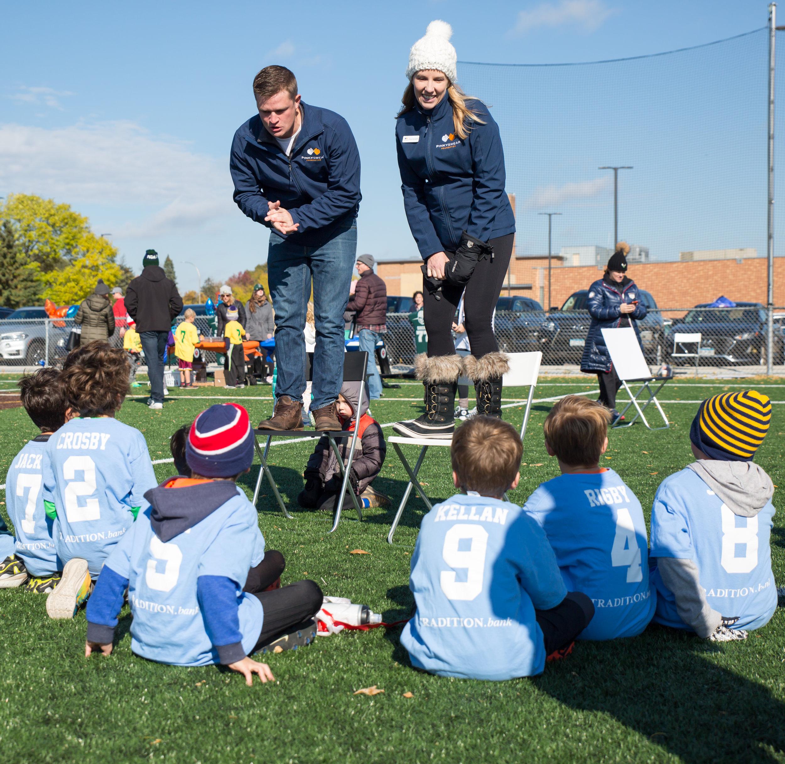 Southdale Center - EFA + Pinky Swear Display     Edina Football Association + Pinky Swear Foundation NOV 2018