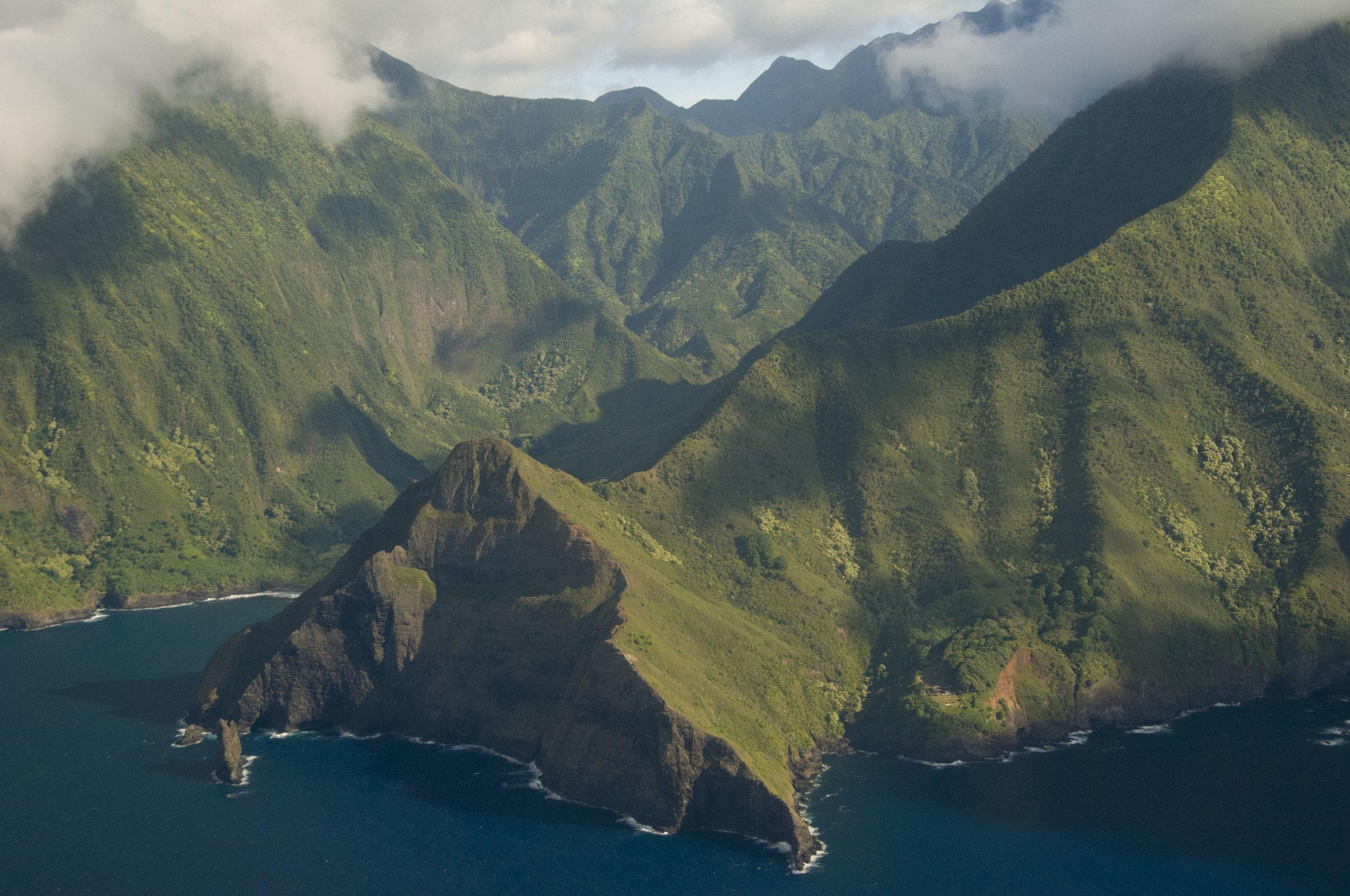 Rugged North Shore of Molokai