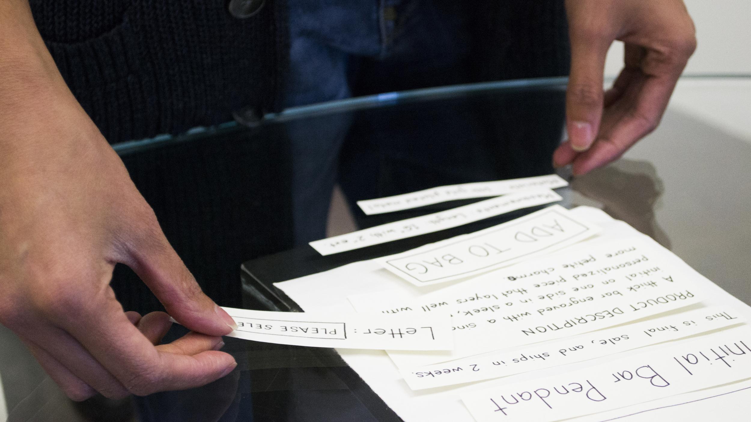 Having users paper prototype helps us understand where their priorities lie.
