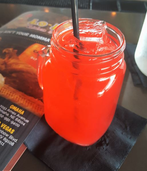 Lo-Lo's Punch made with red koolaid