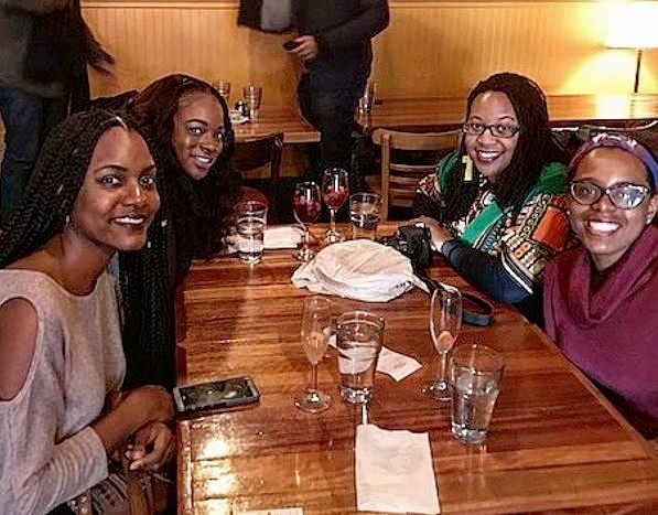 The lovely ladies joining me are local NYC food bloggers  DooseNYC ,  DomNTheCity , and   SalutNutrition .