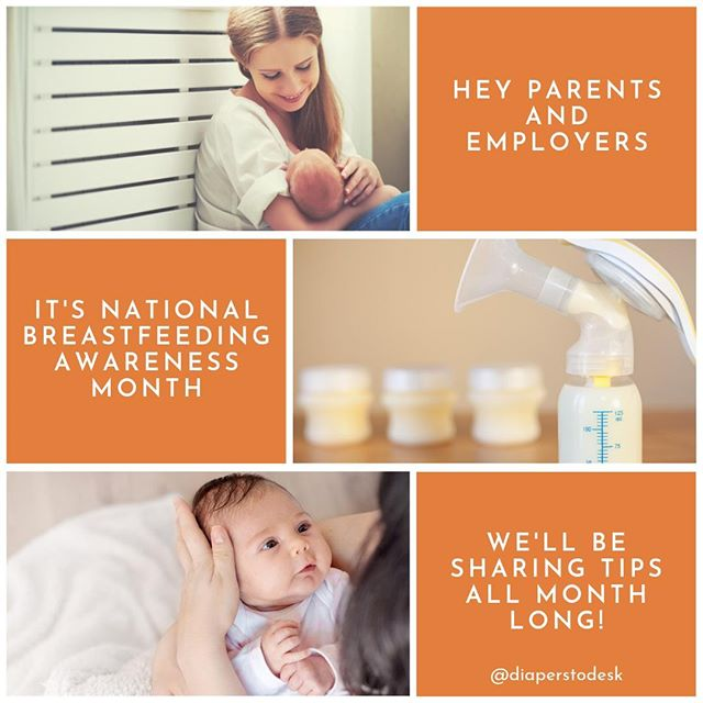 It's National Breastfeeding Awareness Month! We'll be sharing tips all month long! We'll cover topics like:⁠ ⁠ -Supporting your breastfeeding employee⁠ -Best practices for a lactation room⁠ -Myths and truths about breastfeeding⁠ ⁠ We hope you'll follow along with us! 😀⁠ .⁠ .⁠ .⁠ #breastfeeding  #motherhood #pregnancy #momlife #baby #pregnant #newborn #postpartum #nursing #newmom #diaperstodesk