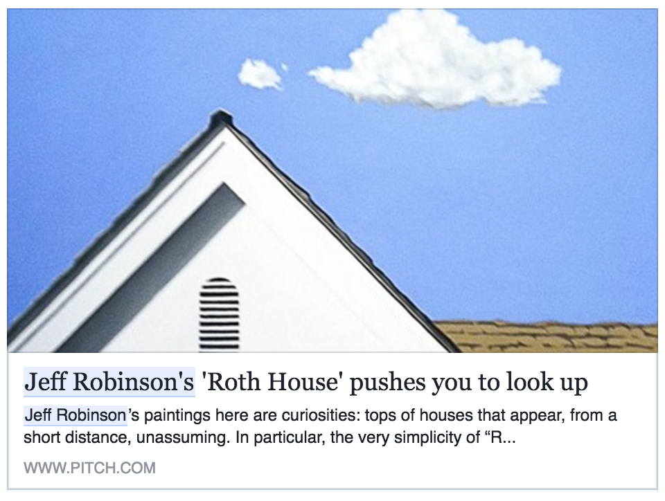 Click to read Annie Raab's  review  of the Roth House painting.