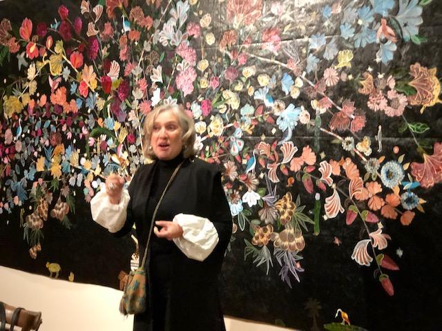"""Artist, Nancy Friedemann-Sánchez, speaking on her latest art work, """"Cornucopia"""""""