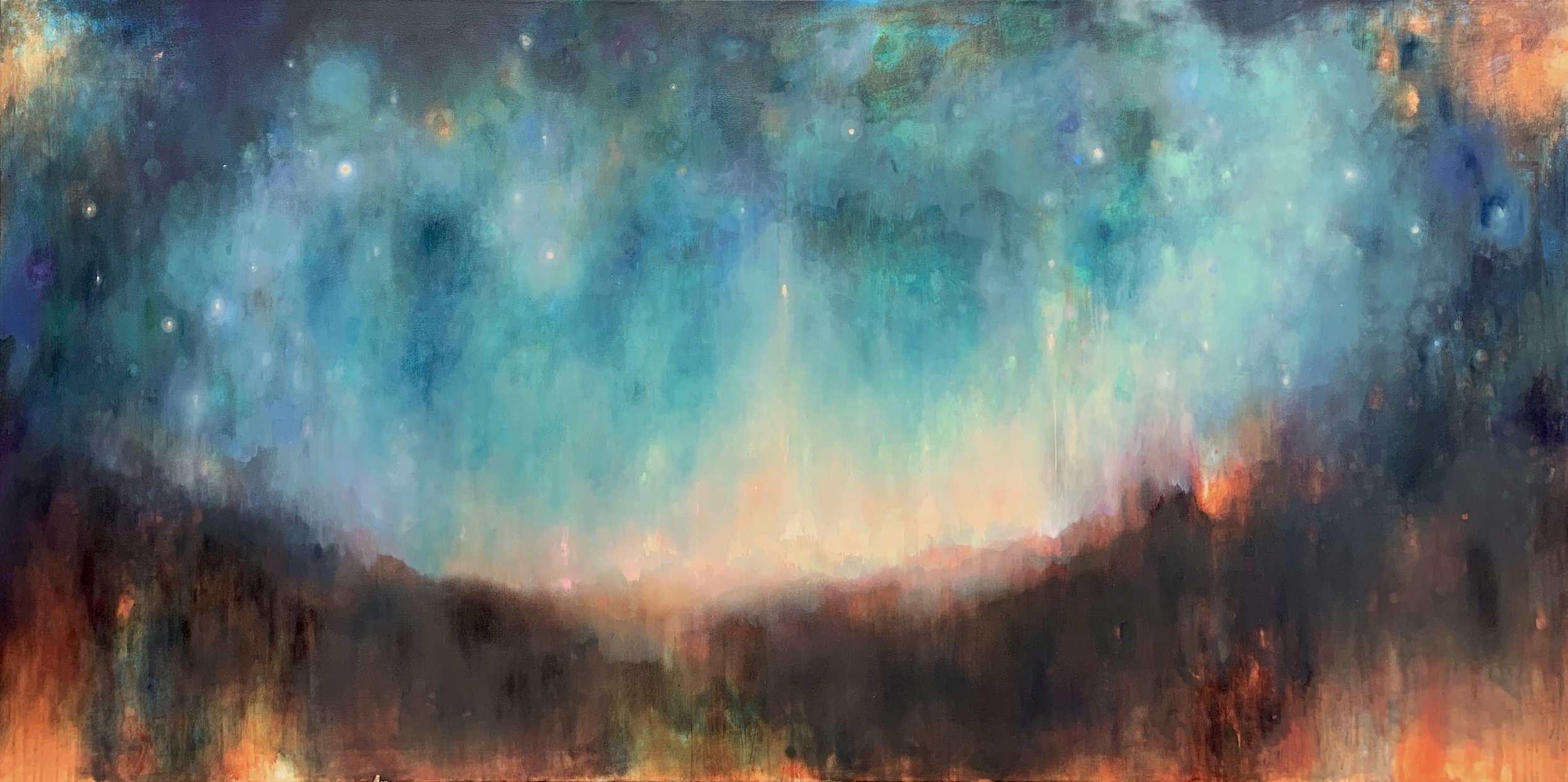 Clare Doveton, This Vast Night, oil on canvas, 48x96 inches, price upon request