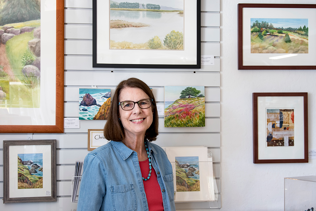 Christine McNamara's paintings available at the Artisans' Co-op.