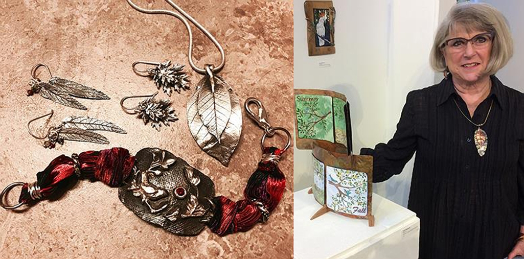 Judy Pagnusat's jewelry is available at the Artisans' Co-op.