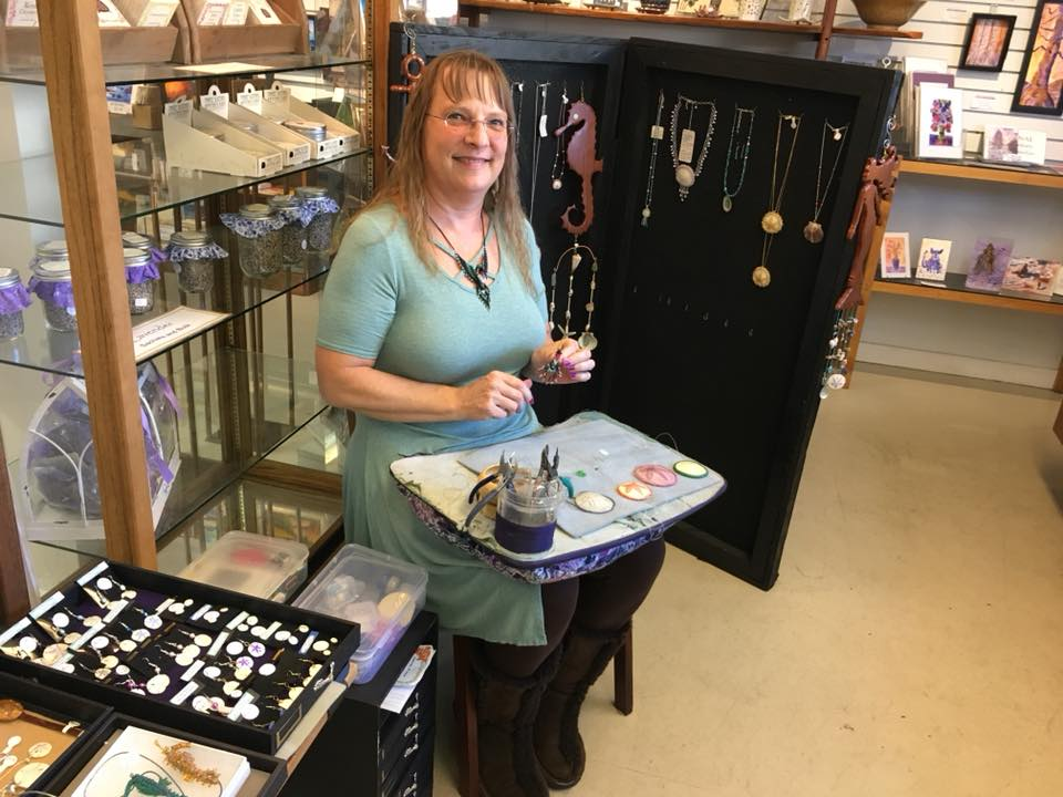 Christine Paschal's jewelry is available at the Artisans' Co-op.