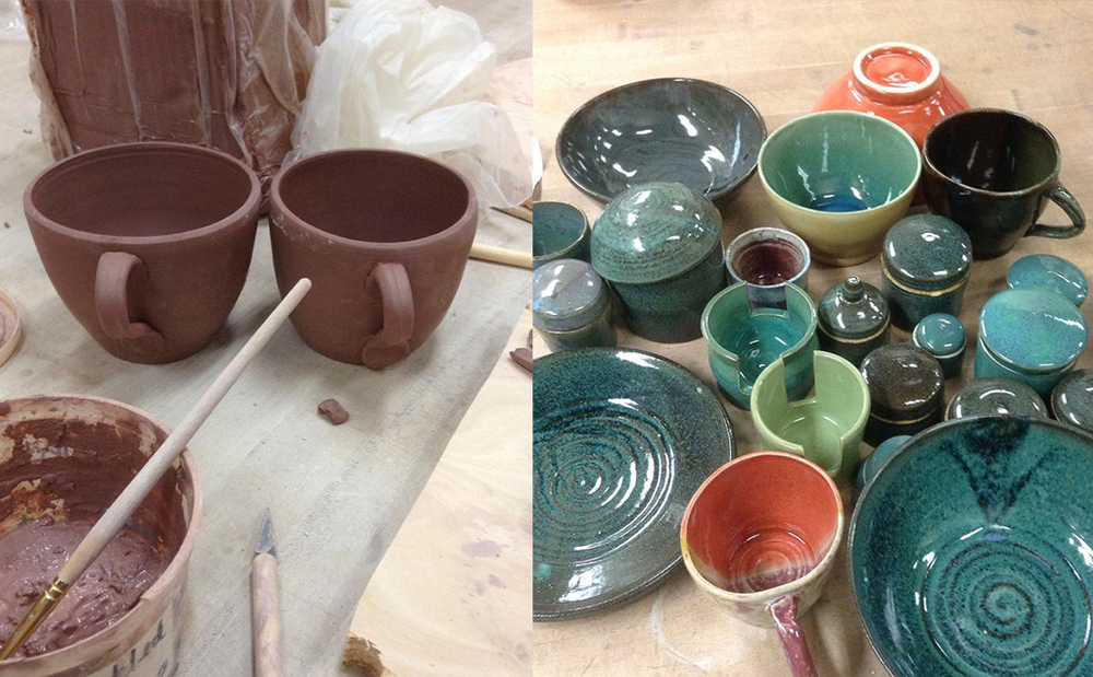 Alexis Shapiro's Pottery is available at the Artisans' Co-op.