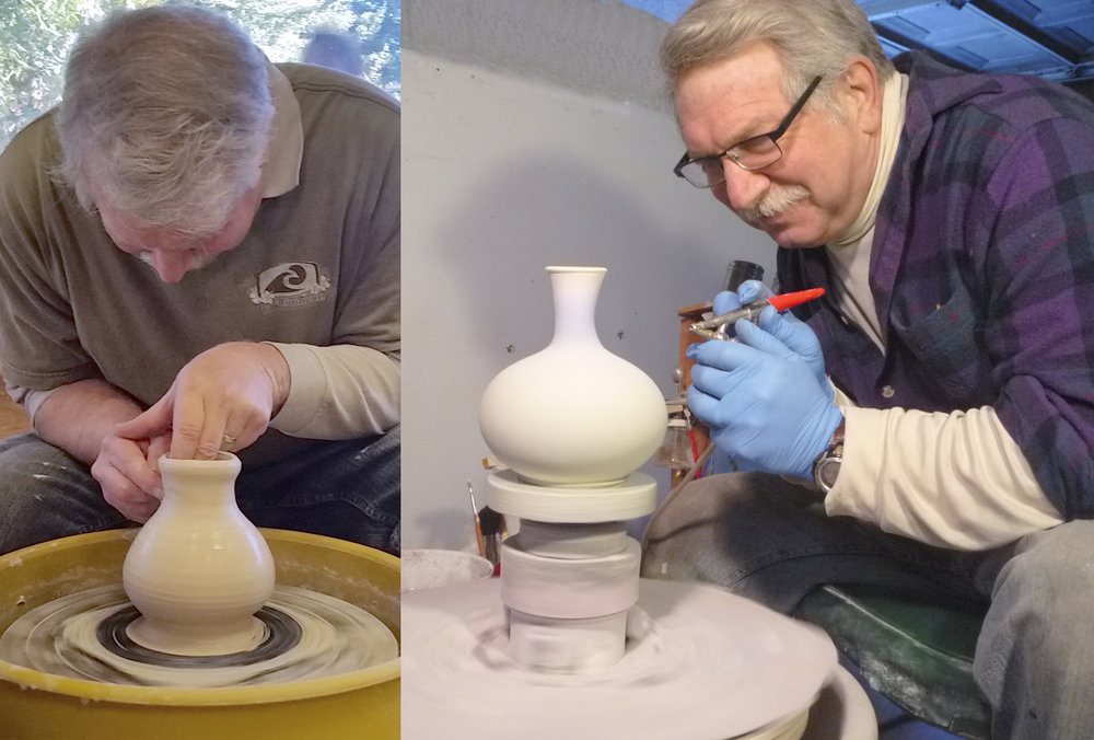 Alan Winer's Pottery is available at the Artisans' Co-op.