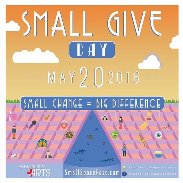 """@smallspacefest is having a """"small give day"""" to help with the cost of putting up the festival in June here at Emergency Arts! Donate at smallspacefest.com. #smallspacefest #emergencyarts #dtlv #arts #fremonteast"""