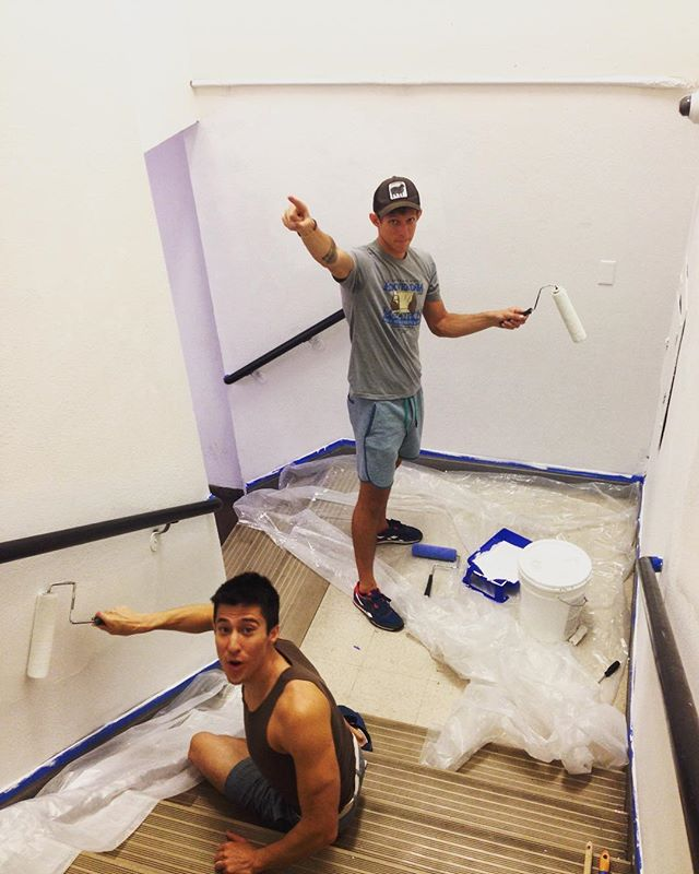 These walls are getting a fresh coat of paint for the upcoming Small Space Fest opening June 20th! @smallspacefest #smallspacefest #emergencyarts #dtlv #art #performance #lasvegas