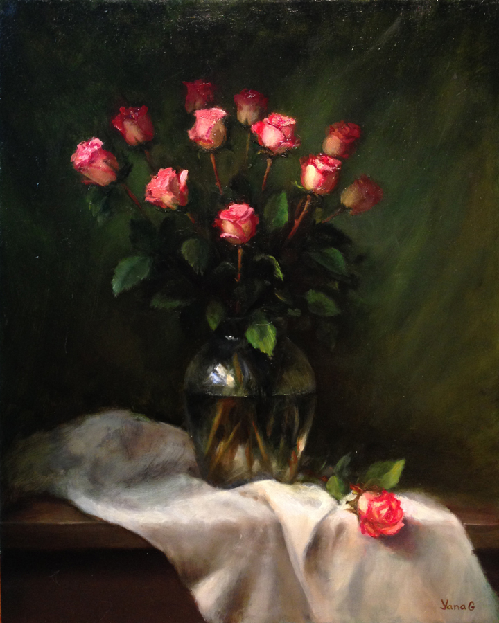 Roses 16x20 Oil on canvas