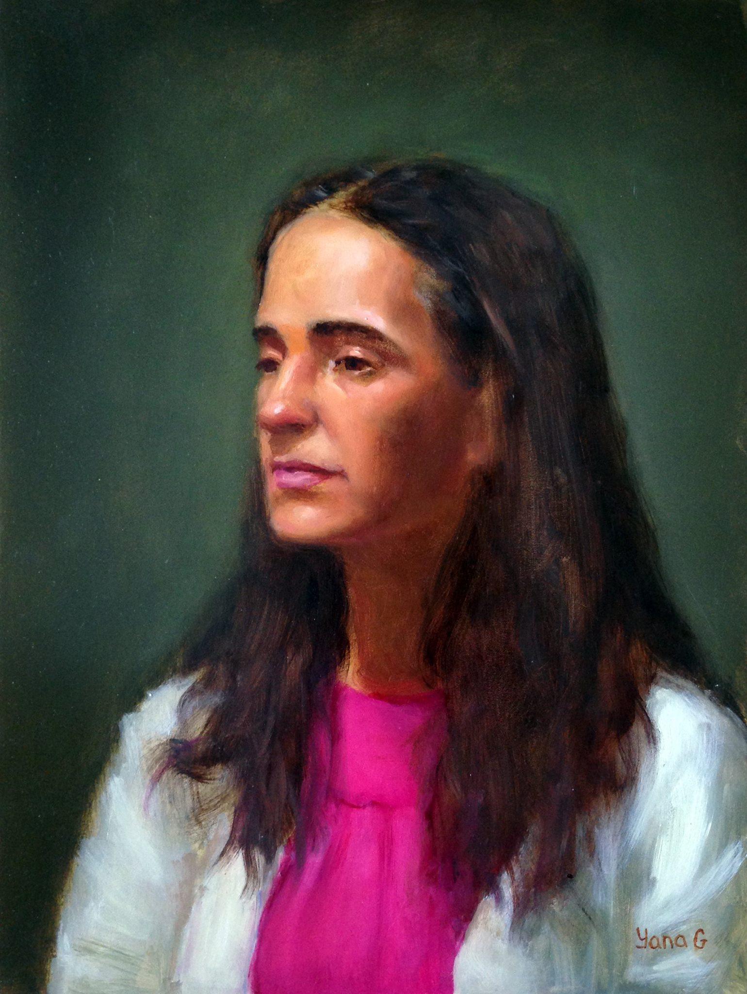 Woman portrait 11x14 Oil on board