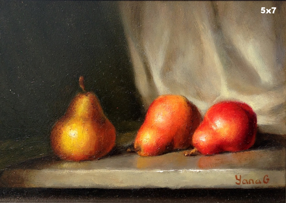 Pears 5x7 Oil on board