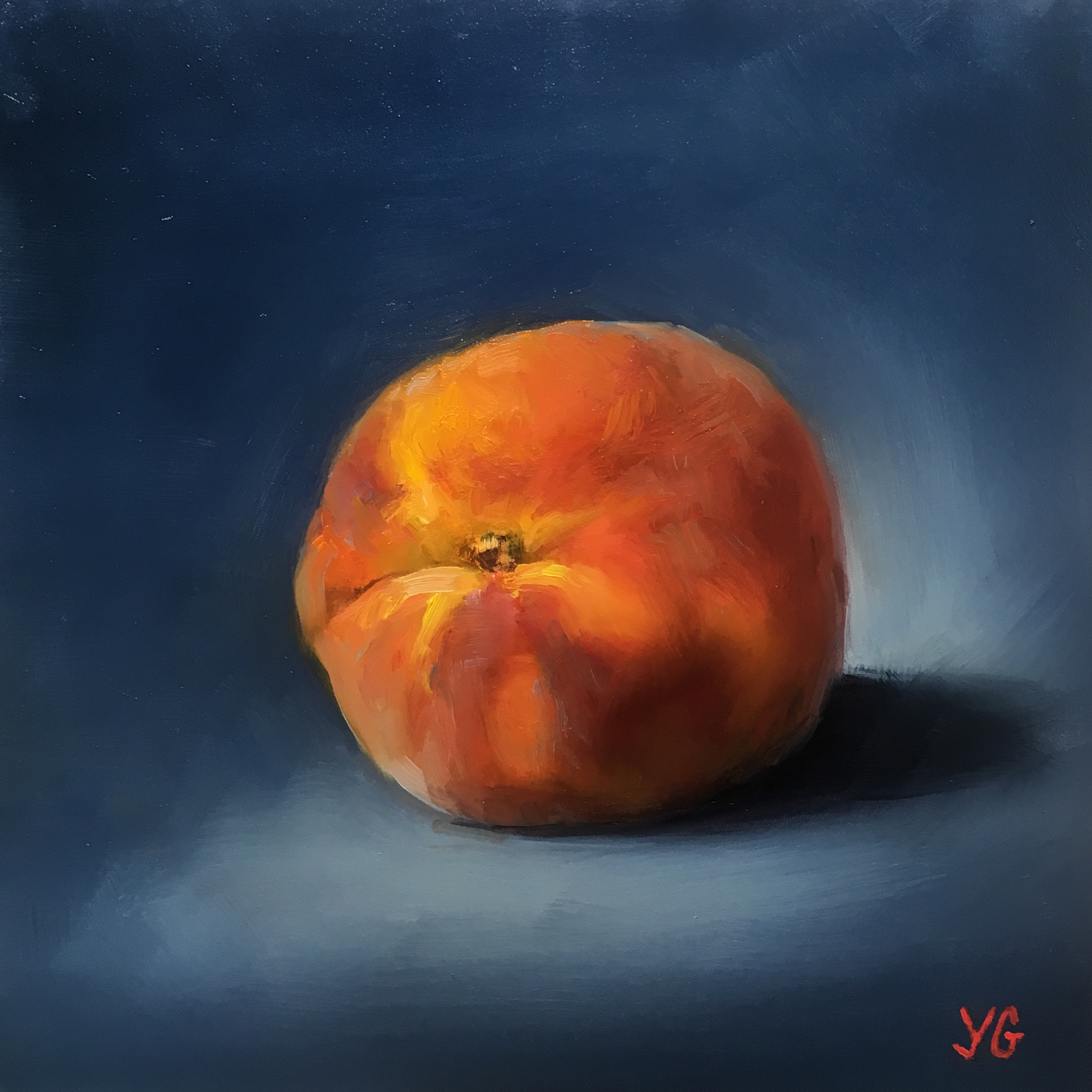 Peach 6x6 Oil on board
