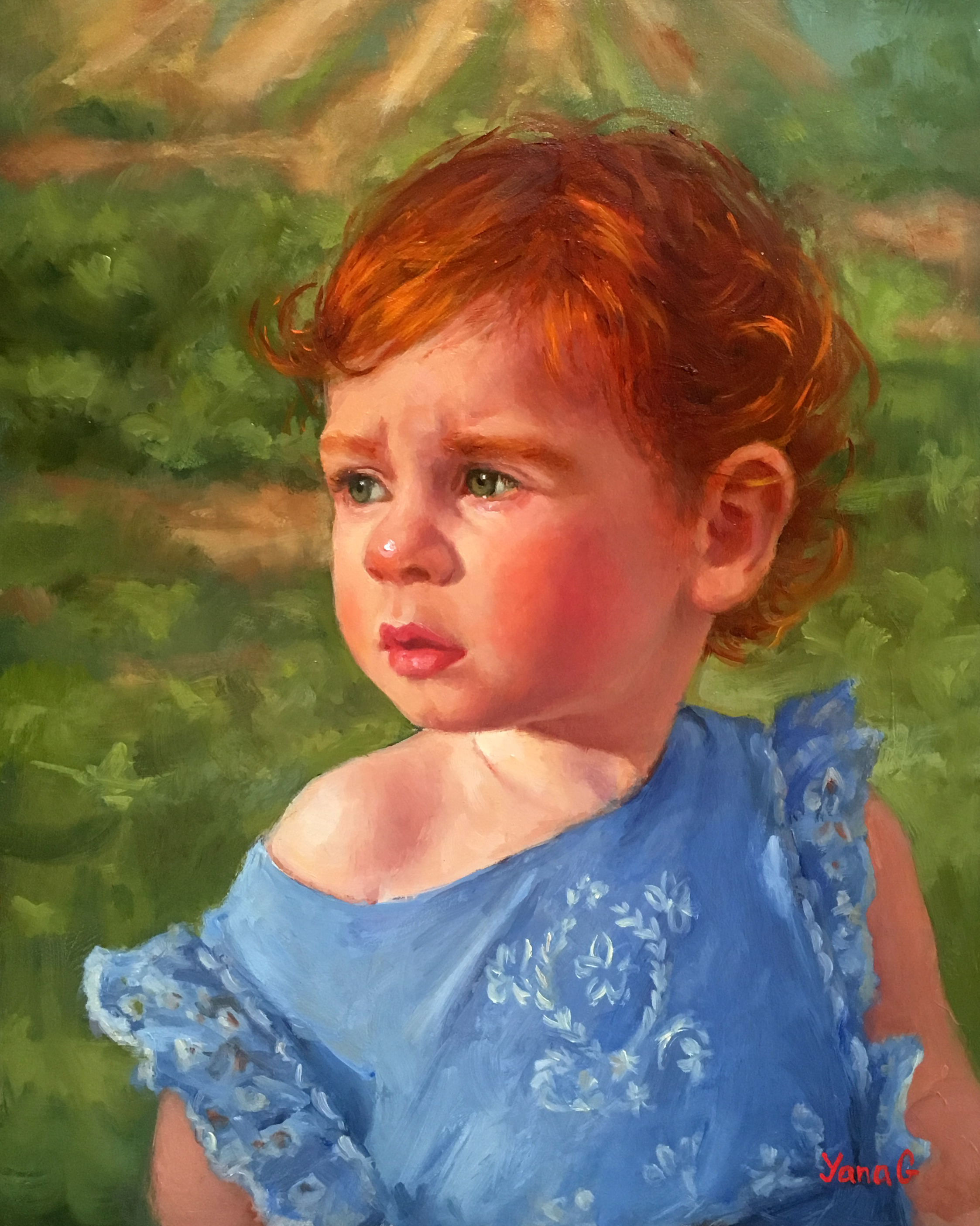 Olivia. Oil on board. 8*10