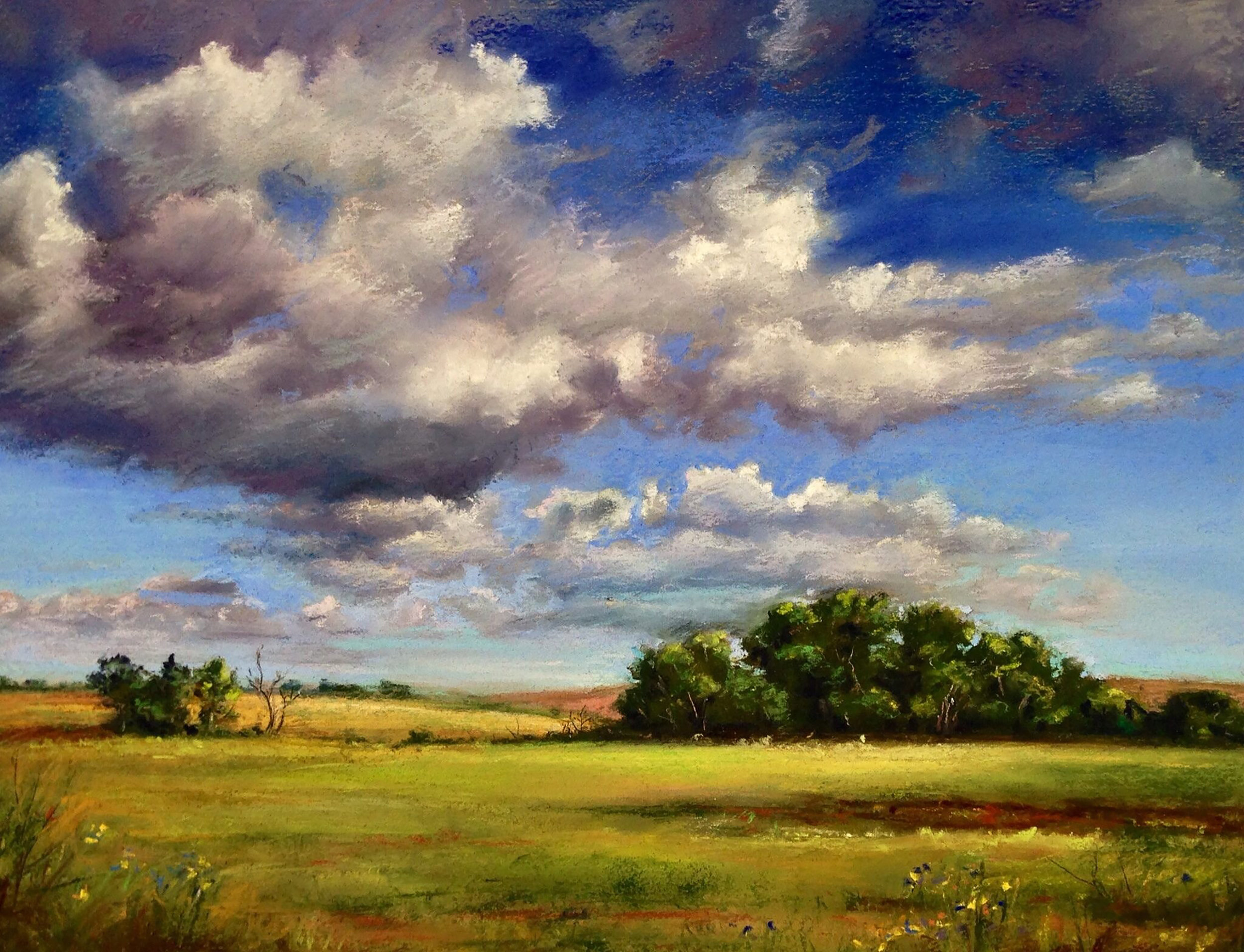 1 Clouds on a sunny day. Pastel.jpg
