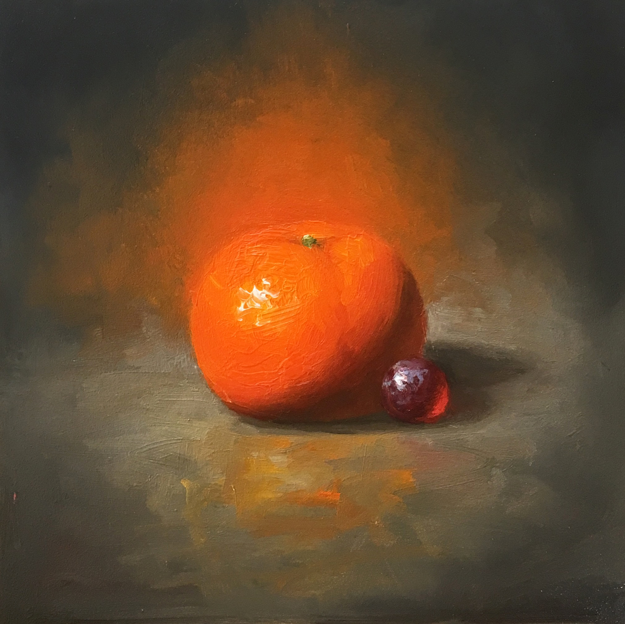 The Glow 6x6 Oil on board