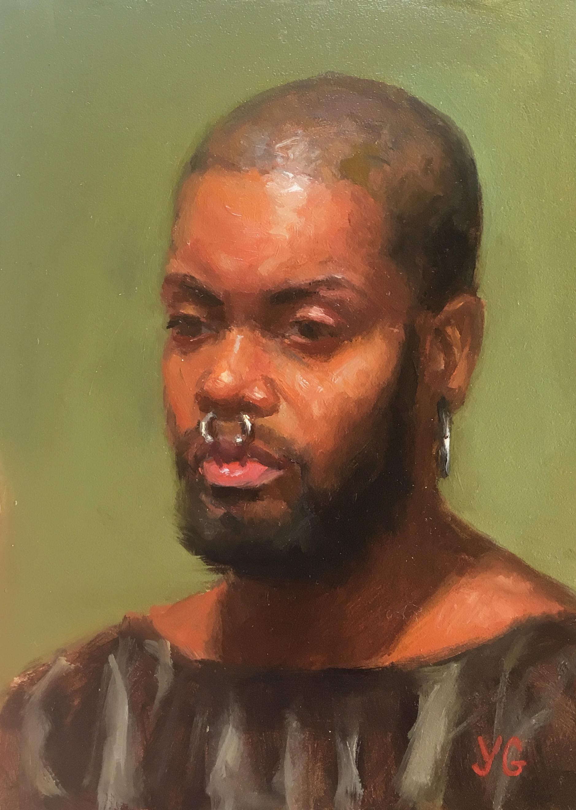 Man Portrait 5x7 Oil on board