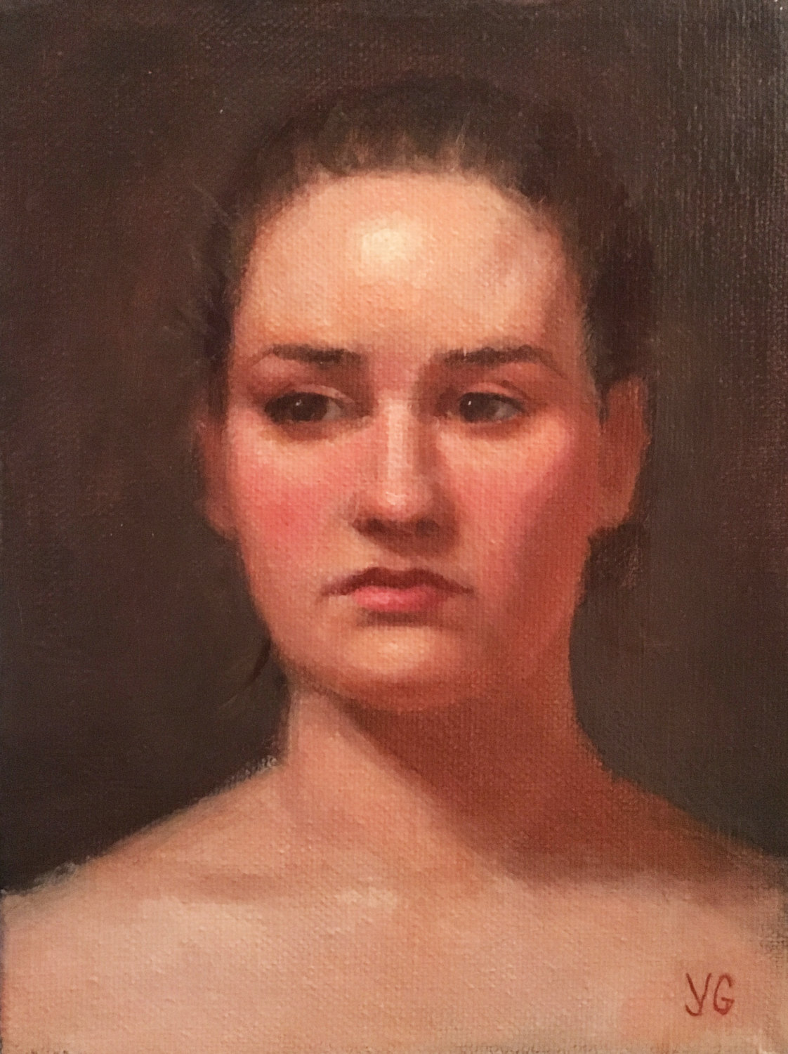 Young Woman 6x8 Oil on canvas