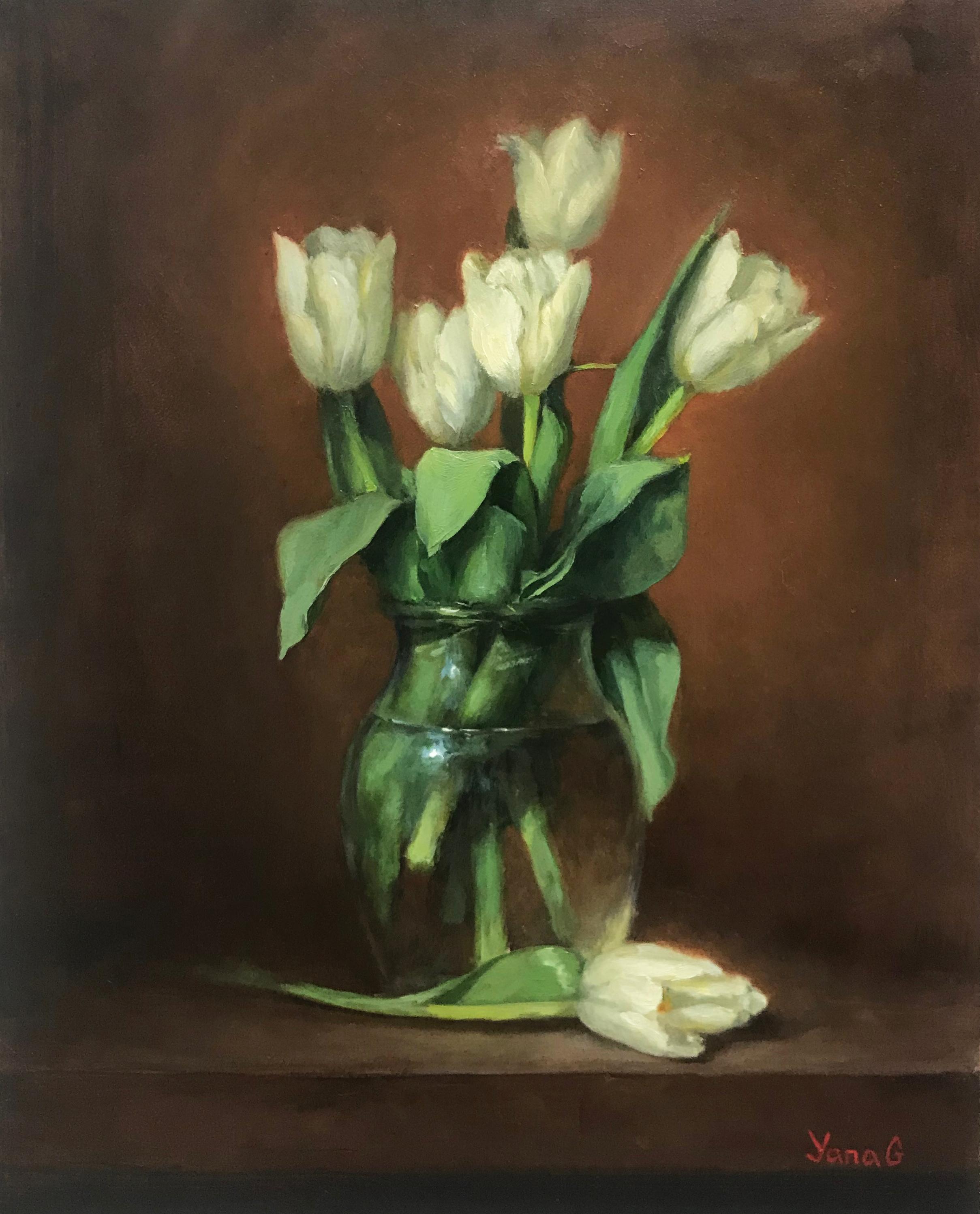 Tulips 8x10 Oil on board